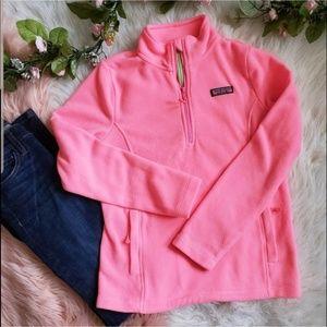Vineyard Vines Neon Pink Fleece Pullover